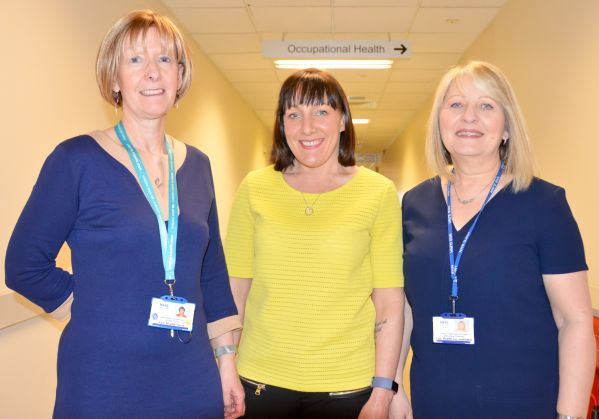 Brenda Proud, Lainey MacKenzie and Bernie Thomson from the Occupational Health team